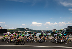 Peloton in Maribor during 1st Stage of 27th Tour of Slovenia 2021 cycling race between Ptuj and Rogaska Slatina (151,5 km), on June 9, 2021 in Slovenia. Photo by Vid Ponikvar / Sportida
