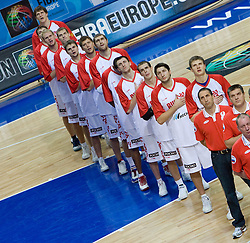 Team of Russia during the EuroBasket 2009 Quaterfinals match between Russia and Serbia, on September 17, 2009 in Arena Spodek, Katowice, Poland.  (Photo by Vid Ponikvar / Sportida)