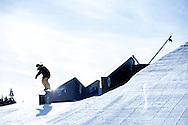 Matt Walker during Ski Slope Practice at 2014 X Games Aspen at Buttermilk Mountain in Aspen, CO. ©Brett Wilhelm/ESPN