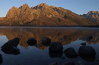 Sunrise on Mount St. John and Jenny Lake in Grand Teton National Park