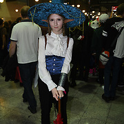 London, UK. 26th October, 2019. Cosplay fans attends the MCM Comic Con London 2019, which took place at the Excel Centre with hundreds of stall exhibition. The weekend offered comic fans the chance to dress up as their favourite characters. Credit: Picture Capital