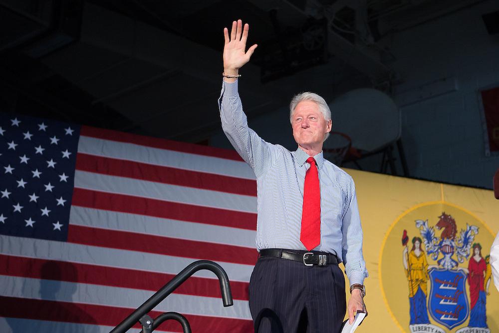 Bill Clinton campaigns for his wife, Hillary Clinton, at Edison High School. 5/27/16  Photo by John O'Boyle for NJ Advance Media