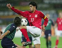 Fotball , mars 2005, Slovenia - Tyskland, v.l. Fabijan CIPOT, Michael BALLACK