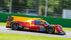 The spanish team of RACING ENGINEERING here at the braking point of first chicane in Monza during the ELMS 4 hours 2018. The LMP2, driven by Norman NATO, Olivier PLA and Paul PETIT, placed in 5th position at the end of race.
