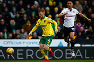 Norwich City midfielder Harrison Reed (4) Bolton Wanderers defender, Antonee Robinson (15) battles for possession during the EFL Sky Bet Championship match between Norwich City and Bolton Wanderers at Carrow Road, Norwich, England on 24 February 2018. Picture by Phil Chaplin.