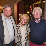 NLD/Amsterdam/20190206- De Waarheid premiere, Frits Landesbergen en partner Joke Bruys en Gerard Cox