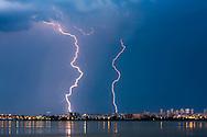 Lightnings in the lake