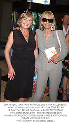Left to right, MARIANNE FAITHFULL and ANITA PALLENBERG,  at an exhibition in London on 14th July 2003.PLL 40