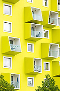 Bright colour new stylish apartments in Orestad new residential development area of Copenhagen, Denmark