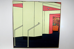 A Patrick Caulfield painting, Foyer, 1973, is displayed during the David Bowie Collector Media Preview at Sotheby's on September 26, 2016 in New York City, NY, USA. Photo by Dennis Van Tine/ABACAPRESS.COM