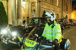 City of London motor cycle police escorting the Lord Mayor