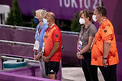 Team Germany, Roemer Klaus, Winter Schulze Madeleine<br /> Olympic Games Tokyo 2021<br /> © Hippo Foto - Dirk Caremans<br /> 28/07/2021