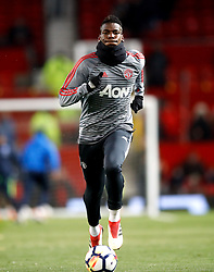 Manchester United's Paul Pogba warms up before the Emirates FA Cup, quarter final match at Old Trafford, Manchester.
