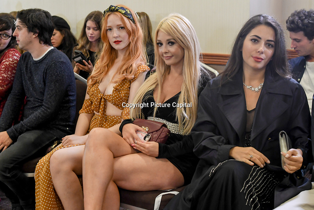 British-based couture fashion brand, Pierre Garroudi Spectacular Fashion Show at London Fashion Week SS19 latest collection showcasing ten new, exclusive, luxury bags created to run alongside the couture collection at Strand Palace Hotel on 16 September 2018, London, UK.