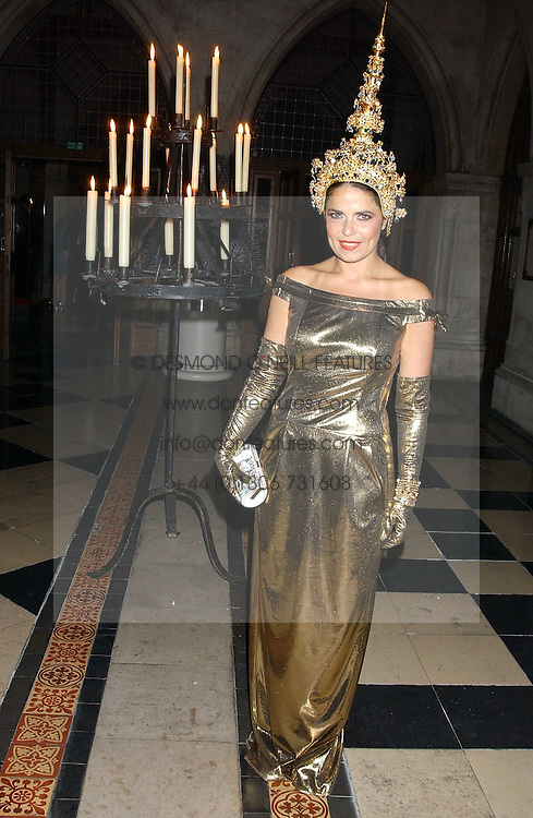 Fashion designer DANIELLA HELAYEL at Andy & Patti Wong's annual Chinese New Year party, this year celebrating the year of the dog held at The Royal Courts of Justice, The Strand, London WC2 on 28th January 2006.<br /><br />NON EXCLUSIVE - WORLD RIGHTS
