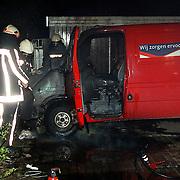 Autobrand PTT auto verdeelcentrum Energieweg Huizen