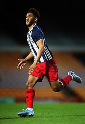 """West Bromwich Albion's Tyler Roberts during the pre-season friendly match at Vale Park, Stoke. PRESS ASSOCIATION Photo. Picture date: Tuesday August 1, 2017. See PA story SOCCER Port Vale. Photo credit should read: Nick Potts/PA Wire. RESTRICTIONS: EDITORIAL USE ONLY No use with unauthorised audio, video, data, fixture lists, club/league logos or """"live"""" services. Online in-match use limited to 75 images, no video emulation. No use in betting, games or single club/league/player publications."""