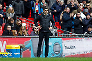 Southampton Manager Mauricio Pellegrino looks dejected after his team concede a third goal. Premier league match, Tottenham Hotspur v Southampton at Wembley Stadium in London on Boxing Day Tuesday 26th December 2017.<br /> pic by Steffan Bowen, Andrew Orchard sports photography.
