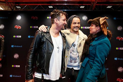 NLD/Amsterdam/20121222 - Inloop 538Jingleballs 2012, Kane, Dinand Woesthoff en Dennis van Leeuwen
