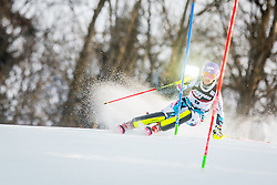 """Michaela Kirchgasser (AUT) during FIS Alpine Ski World Cup 2016/17 Ladies Slalom race named """"Snow Queen Trophy 2017"""", on January 3, 2017 in Course Crveni Spust at Sljeme hill, Zagreb, Croatia. Photo by Žiga Zupan / Sportida"""