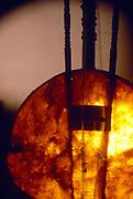 Studio photos of a Kora. Musical Instrument from West Africab/ Senegal