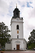 The church on the main square. Eksjo town. Smaland region. Sweden, Europe.