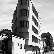 Paris, France, 2003: View of the  Maison Ternisien, at Boulogne (1926) - Le Corbusier arch - Visit Shop Images to purchase and download a digital file and explore other AS images archive. Photographs by Alejandro Sala