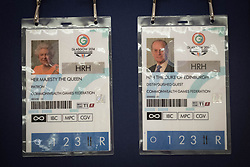Embargoed to 0001 Friday July 21<br /> Passes for the Glasgow 2014 Commonwealth Games on the display of gifts presented to Queen Elizabeth II throughout her 65 year reign on show during a preview for the Royal Gifts exhibition, which is part of the annual Summer Opening of the State Rooms at Buckingham Palace, London.