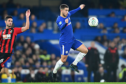 December 20, 2017 - London, England, United Kingdom - Chelsea Midfielder Eden Hazard closely watches the ball during the Carabao Cup Quarter - Final match between Chelsea and AFC Bournemouth at Stamford Bridge, London, England on 20 Dec 2017. (Credit Image: © Kieran Galvin/NurPhoto via ZUMA Press)