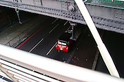 England, London: Charing Cross Station. taxi cab from the Golden Jubilee Bridges England, London: