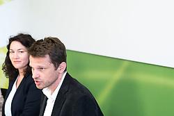 16.06.2017, Grüner Parlamentsklub, Wien, AUT, Grüne, Pressekonferenz zur Offensive für Umwelt und Klima. im Bild v.l.n.r. Bundesparteiobfrau der Grünen Ingrid Felipe und designierter Klubobmann der Grünen Albert Steinhauser // f.l.t.r. Leader of the Austrian Greens Ingrid Felipe and Leader of the parliamentary group of the greens Albert Steinhauser during media conference of the parliamentary group the greens in Vienna, Austria on 2017/06/16. EXPA Pictures © 2017, PhotoCredit: EXPA/ Michael Gruber