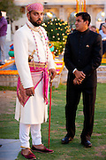 Lakshaya Raj, son and heir of 76th Maharana of Mewar, Shriji Arvind Singh Mewar of Udaipur, at Holi Festival at the City Palace, Rajasthan, India.