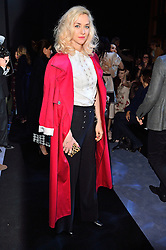 © Licensed to London News Pictures. 21/02/2016.  PORTIA FREEMAN attends the Temperley show at the London Fashion Week Autumn/Winter 2016 show. Models, buyers, celebrities and the stylish descend upon London Fashion Week for the Autumn/Winters 2016 clothes collection shows. London, UK. Photo credit: Ray Tang/LNP