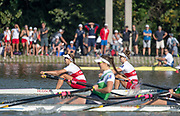 Plovdiv, Bulgaria, Friday, 14th September 2018. FISA, World Rowing Championships, CAN W2X, Bow, Gabrielle<br /> SMITH and Andrea PROSKE, © Peter SPURRIER,