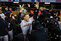 Hunter Pence before Game 4, 2012 World Series Champion Giants