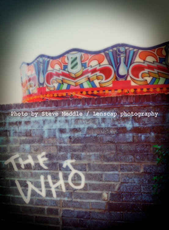 The Who, graffiti painted on a wall, England