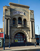 Derelict empty historic building, The Empire theatre, Great Yarmouth, Norfolk, England