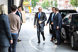 © Licensed to London News Pictures. 02/06/2019. London, UK. United States Ambassador to the United Kingdom Woody Johnson (centre) arrives at BBC Broadcasting House to appear on The Andrew Marr Show Photo credit: Rob Pinney/LNP