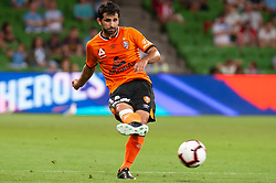 January 11, 2019 - Melbourne, VIC, U.S. - MELBOURNE, VIC - JANUARY 11: Brisbane Roar midfielder Alex Lopez Sanchez (14) passes the ball at the Hyundai A-League Round 13 soccer match between Melbourne City FC and Brisbane Roar FC at AAMI Park in VIC, Australia 11th January 2019. (Photo by Speed Media/Icon Sportswire) (Credit Image: © Speed Media/Icon SMI via ZUMA Press)