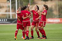 Spain's Sonia Bermudez and Marta Corredera during the match of  European Women's Championship 2017 at Las Rozas, between Spain and Montenegro. September 15, 2016. (ALTERPHOTOS/Rodrigo Jimenez)