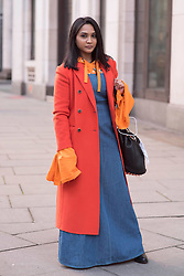Chalisa Guerrero during London Fashion Week Autumn/Winter 2017 in London.  Picture date: Friday 17th February 2017. Photo credit should read: DavidJensen/EMPICS Entertainment