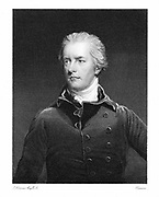 William Pitt the Younger (1759-1806) British statesman. Became Prime Minister at age of 24 the youngest to hold the position in England. Engraving after Hoppner