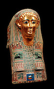 Case of the inner coffin of Nespamal, showing the goddess Nut. 27 Dynasty, 500 years BC