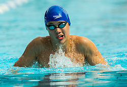 Ziga Remskar of PK Ilirija Ljubljana competes in 4x100m Medley during Slovenian Swimming National Championship 2014, on August 3, 2014 in Ravne na Koroskem, Slovenia. Photo by Vid Ponikvar / Sportida.com