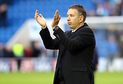 Peterborough United Manager, Darren Ferguson claps the fans at the end of the game - Photo mandatory by-line: Joe Dent/JMP - Tel: Mobile: 07966 386802 26/10/2013 - SPORT - FOOTBALL - Colchester Community Stadium - Colchester - Colchester United v Peterborough United - Sky Bet League One