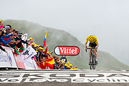Geraint Thomas (GBR - Team Sky) Yellow Jersey crosses the finish line after the climb of the Col du Portet during the 105th Tour de France 2018, Stage 17, Bagneres de Luchon - Col du Portet (65 km) on July 25th, 2018 - Photo George Deswijzen / Pro Shots / ProSportsImages / DPPI