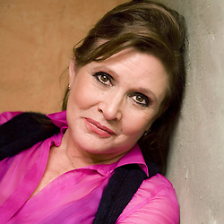 CARRIE FRANCES FISHER (October 21, 1956 - December 27, 2016) the actress best known as Star Wars icon Princess Leia, has died after suffering a heart attack. She was 60. Pictured: October 9, 2012 - Beverly Hills, California, U.S. - Actress CARRIE FISHER poses during an interview at her home in Coldwater Canyon. (Credit Image: © Leonard Ortiz/The Orange County Register via ZUMA Wire)