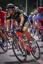 July 28, 2018 - Les Bons Villers, BELGIUM - French Romain Cardis of Direct Energie pictured during the first stage of the Tour De Wallonie cycling race, 193,4 km from La Louviere to Les Bons Villers, on Saturday 28 July 2018. BELGA PHOTO LUC CLAESSEN (Credit Image: © Luc Claessen/Belga via ZUMA Press)