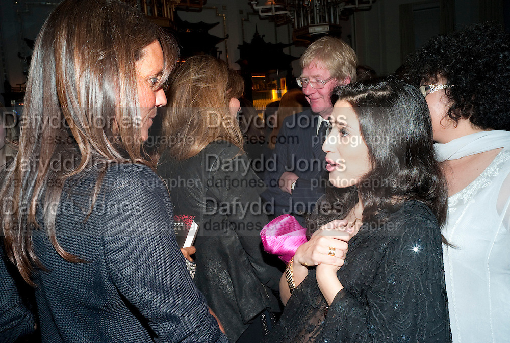 DEBBIE VON BISMARCK; FATIMA BHUTTO, Henry Porter hosts a launch for Songs of Blood and Sword by Fatima Bhutto. The Artesian at the Langham London. Portland Place. 15 April 2010.  *** Local Caption *** -DO NOT ARCHIVE-© Copyright Photograph by Dafydd Jones. 248 Clapham Rd. London SW9 0PZ. Tel 0207 820 0771. www.dafjones.com.<br /> DEBBIE VON BISMARCK; FATIMA BHUTTO, Henry Porter hosts a launch for Songs of Blood and Sword by Fatima Bhutto. The Artesian at the Langham London. Portland Place. 15 April 2010.