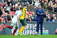 England Manager Gareth Southgate watching the game during the FIFA World Cup Qualifier group stage match between England and Lithuania at Wembley Stadium, London, England on 26 March 2017. Photo by Matthew Redman.